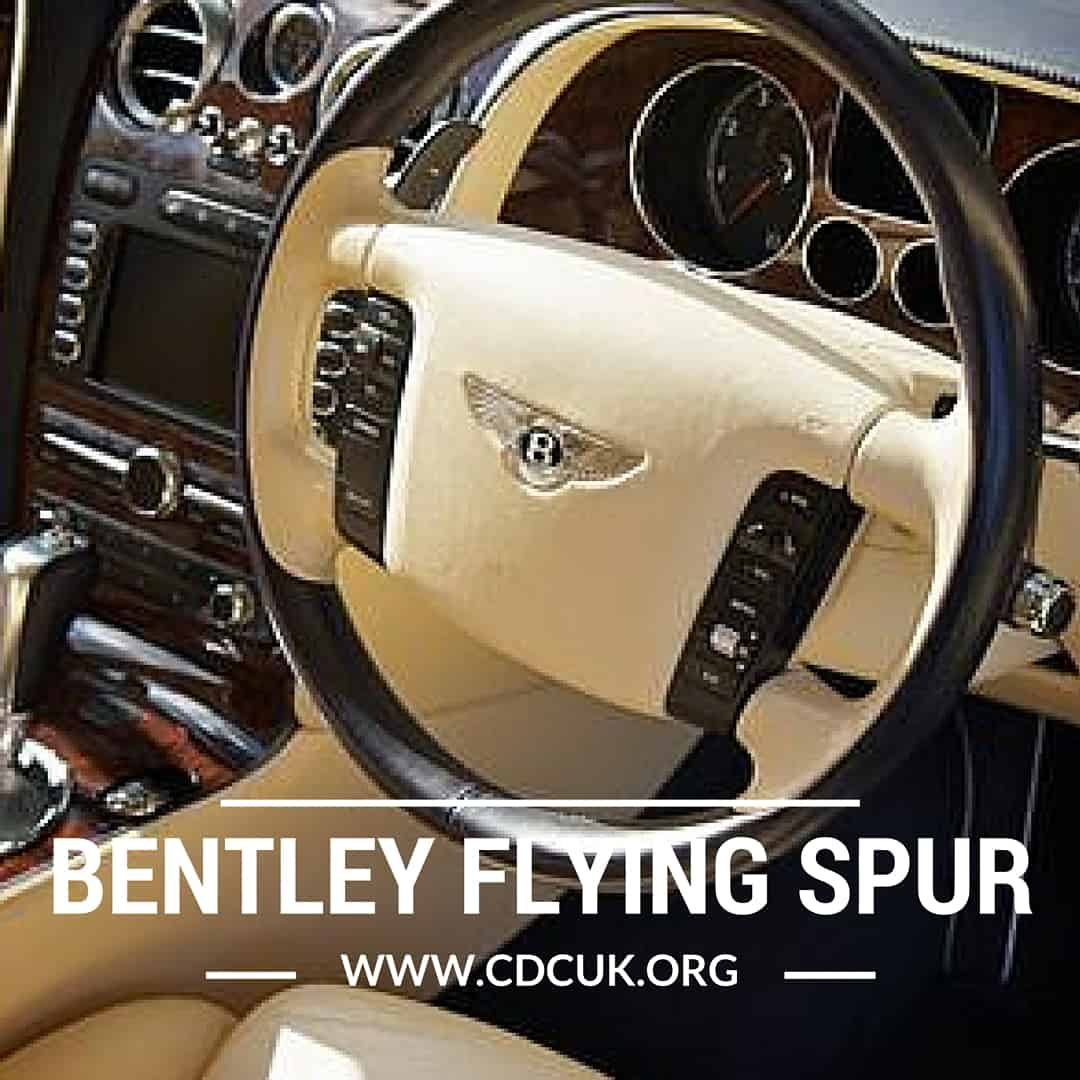 White Bentley Flying Spur Hire: Bentley Flying Spur Hire